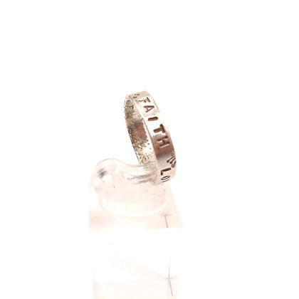 """Silver """"Faith Hope Love Peace"""" Ring"""