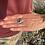 "Thumbnail: Green Opal ""Bumpy Road"" Adjustable Ring"