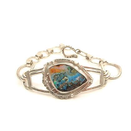 """Australian Opal """"Volcano Island"""" Cuff Bracelet"""