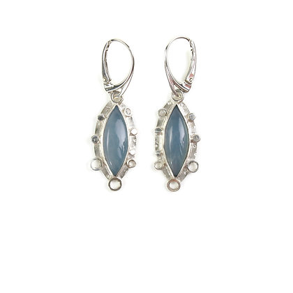 Blue Chalcedony Earrings 'Blue Heaven'