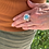"""Thumbnail: Light Turquoise Mixed Metal Ring """"Butterfly"""""""