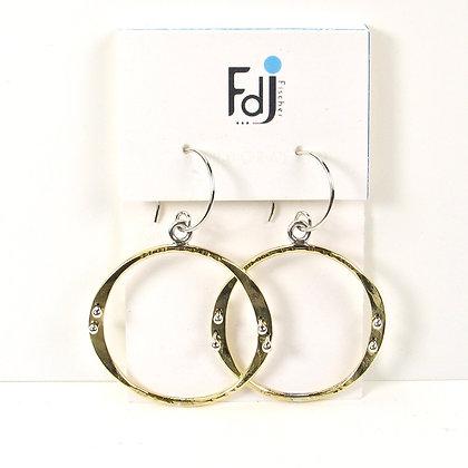 Studded Oval Earrings