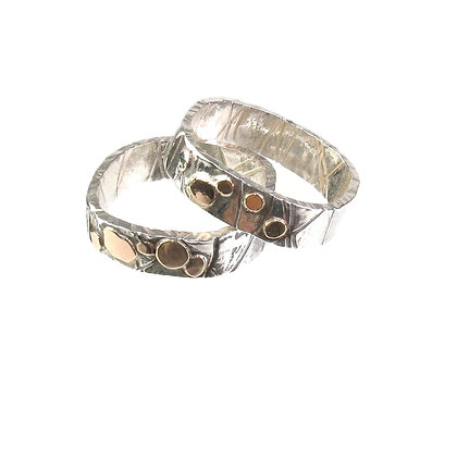 Gold & Silver Band Ring 'Gold Rush'