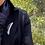 "Thumbnail: Australian Blue Opal & Silver Long Pin ""Sunday Stroll"""