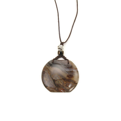 Shades of Brown Agate Pendant 'Coral Reef'