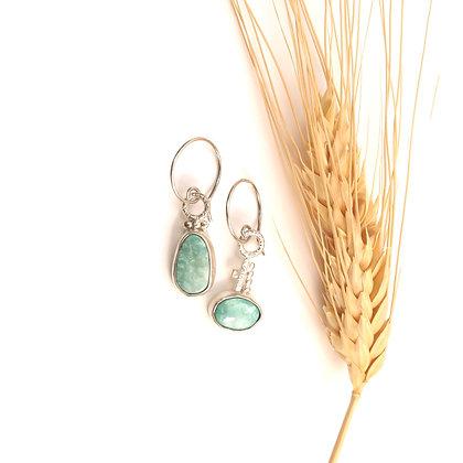 Sleeping Beauty Turquoise Mismatch Earrings