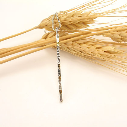 Silver with Gold Bar Pendant