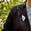 """Thumbnail: Turquoise Chrysocolla Pin Brooch """"Turquoise Forest"""""""
