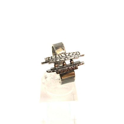 """14 kt Gold & Silver """"Lodgepole Pines"""" Ring"""
