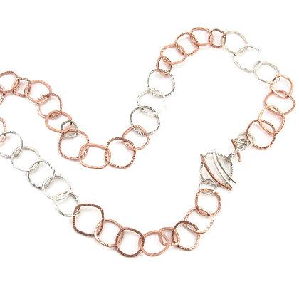 Copper Silver Handmade Chain 'Streambed'