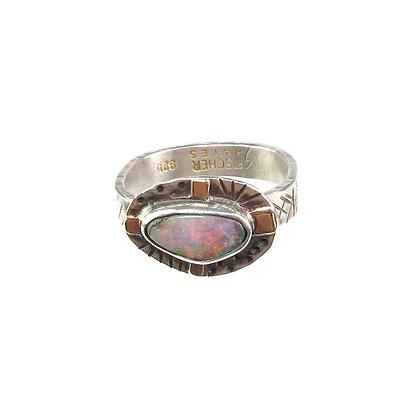 Australian Opal Ring 'Sunrise'