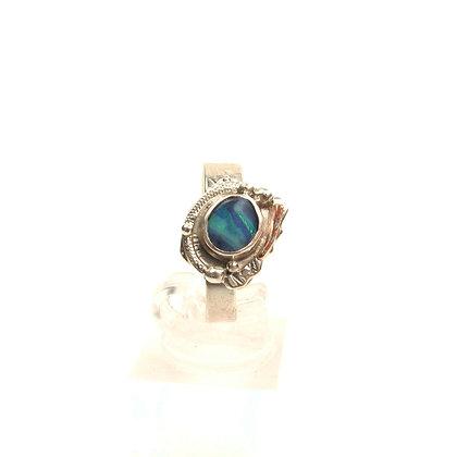 """Australian Blue Opal """"Sky Glow"""" Ring"""