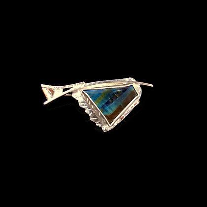 "Spectrolite Mixed Metal Pin Brooch ""Lightning"""