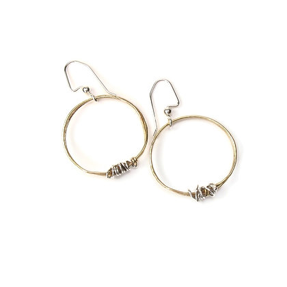 Gold Brass Hoop Earrings 'Ivy'