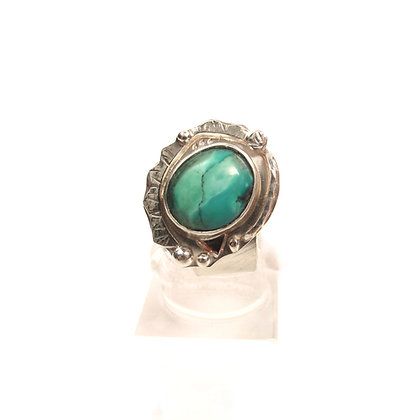"""Turquoise """"Ink Mountain"""" Adjustable Ring"""