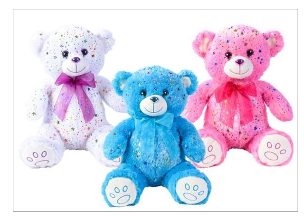 WHITE,PINK,&BLUE BEAR