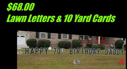 black lawn letters