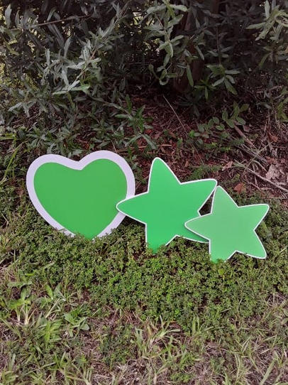 Green Heart & Star