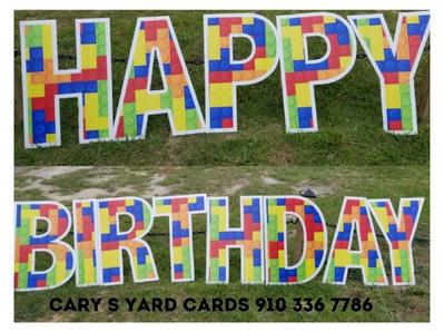 Happy Birthday Block Letters