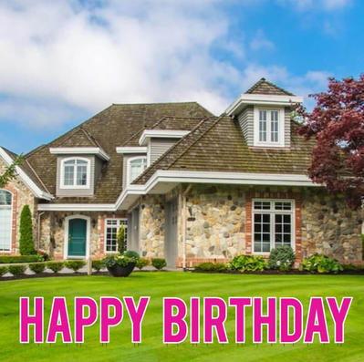 Pink Happy Birthday Lawn Letters