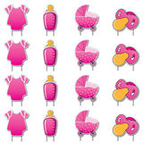Pink Baby Yard Cards