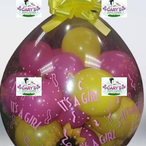 It's A Girl Stuffed Balloon