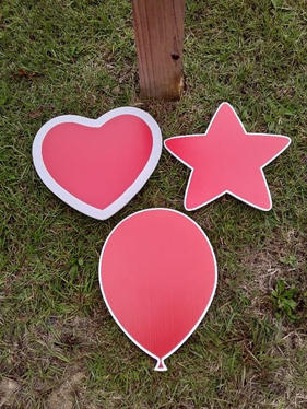 Red Star, Balloon, & Heart