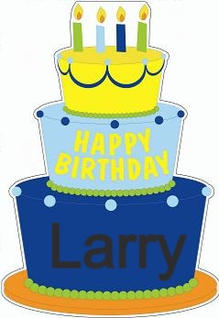 Blue Birthday Cake  Message Board