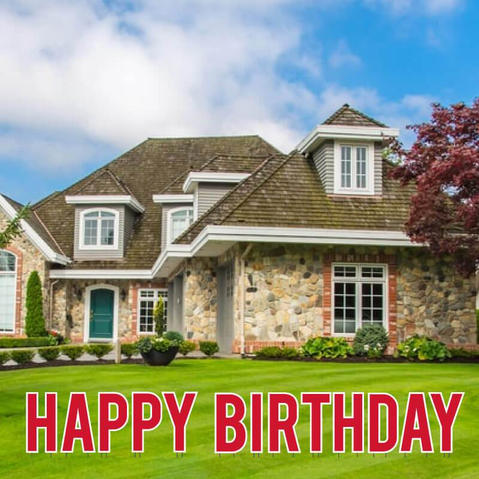 Red Happy Birthday Lawn Letters