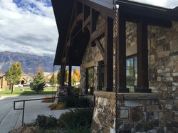 Lodge and stone exteriors