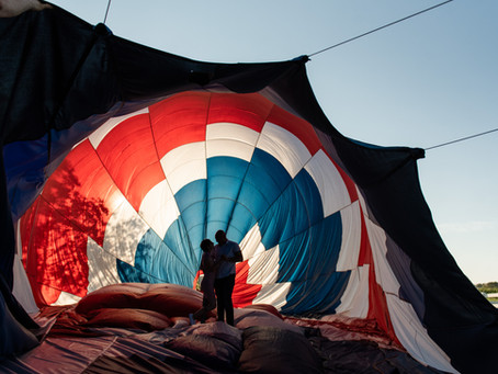Manny's Sunrise Hot Air Balloon Proposal | Delaware's Proposal Photographer | Blair's Ballooning