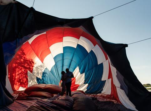 Manny's Sunrise Hot Air Balloon Proposal | Delaware's Proposal Photographer | Blair's Ballooning