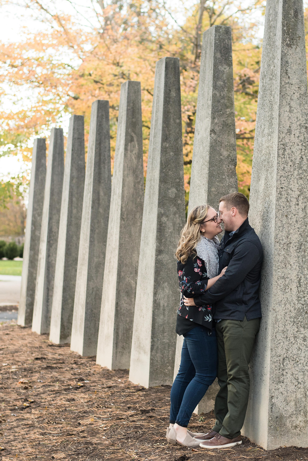 Lebanon Valley College fall Engaged couple photography session with Shannon Ritter Photography flying dutchman wedding