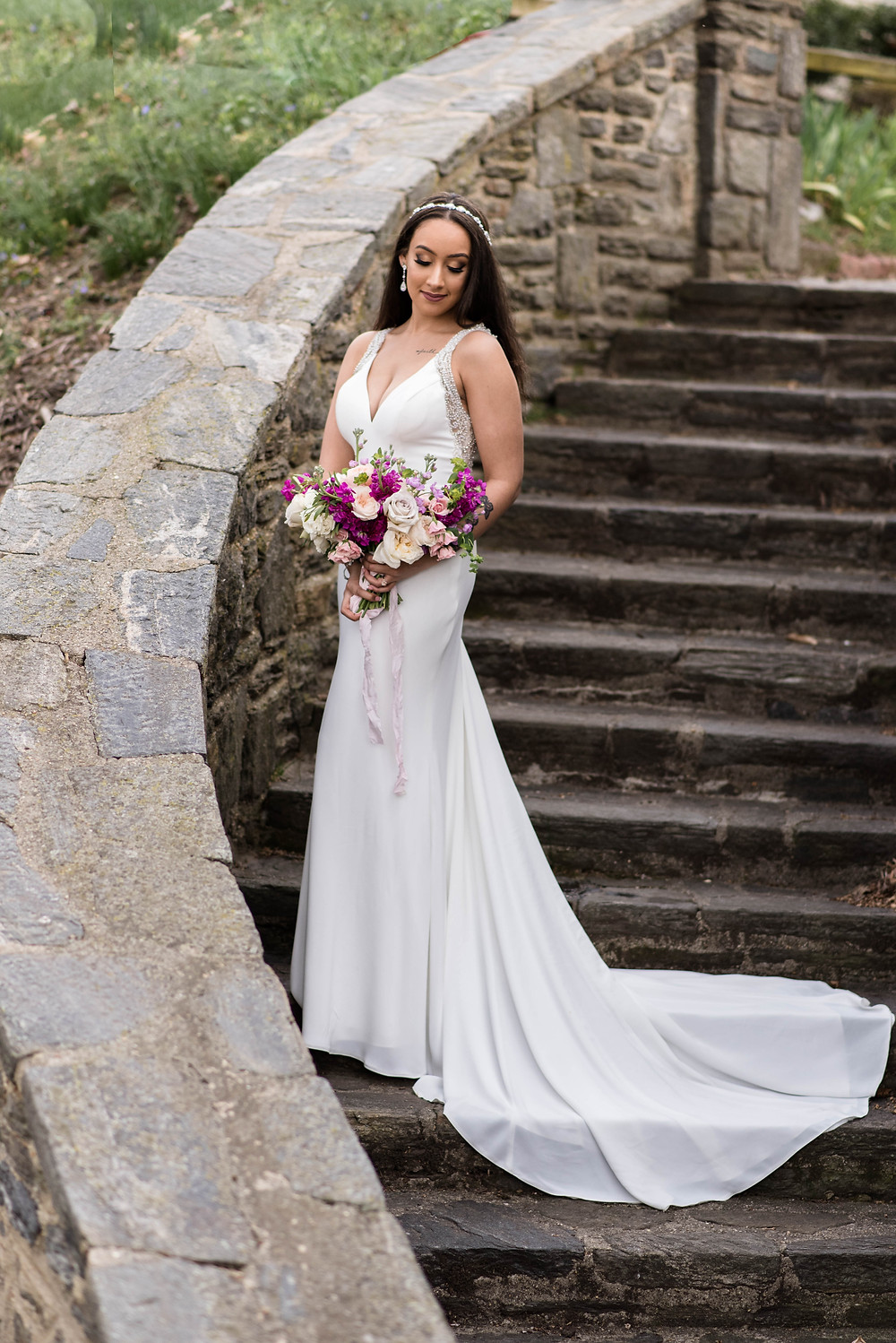 Cherry Hill New Jersey Bridal portraits shannon ritter photography military wedding