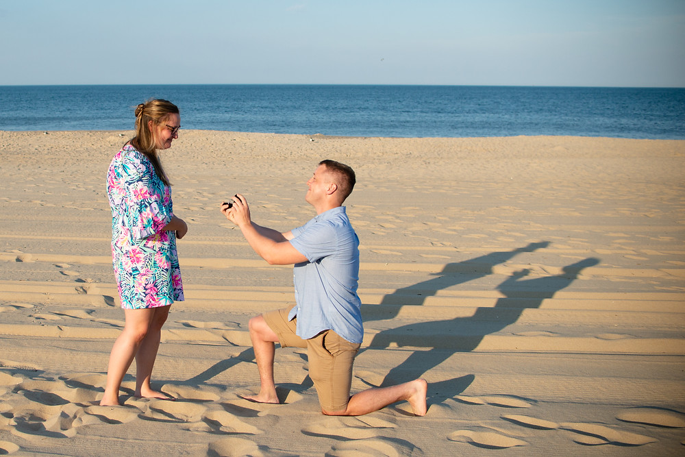 Delaware marriage proposal photographer rehoboth beach vacation portraits