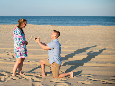 Rehoboth Beach Marriage Proposal  Delaware Proposal Photographer