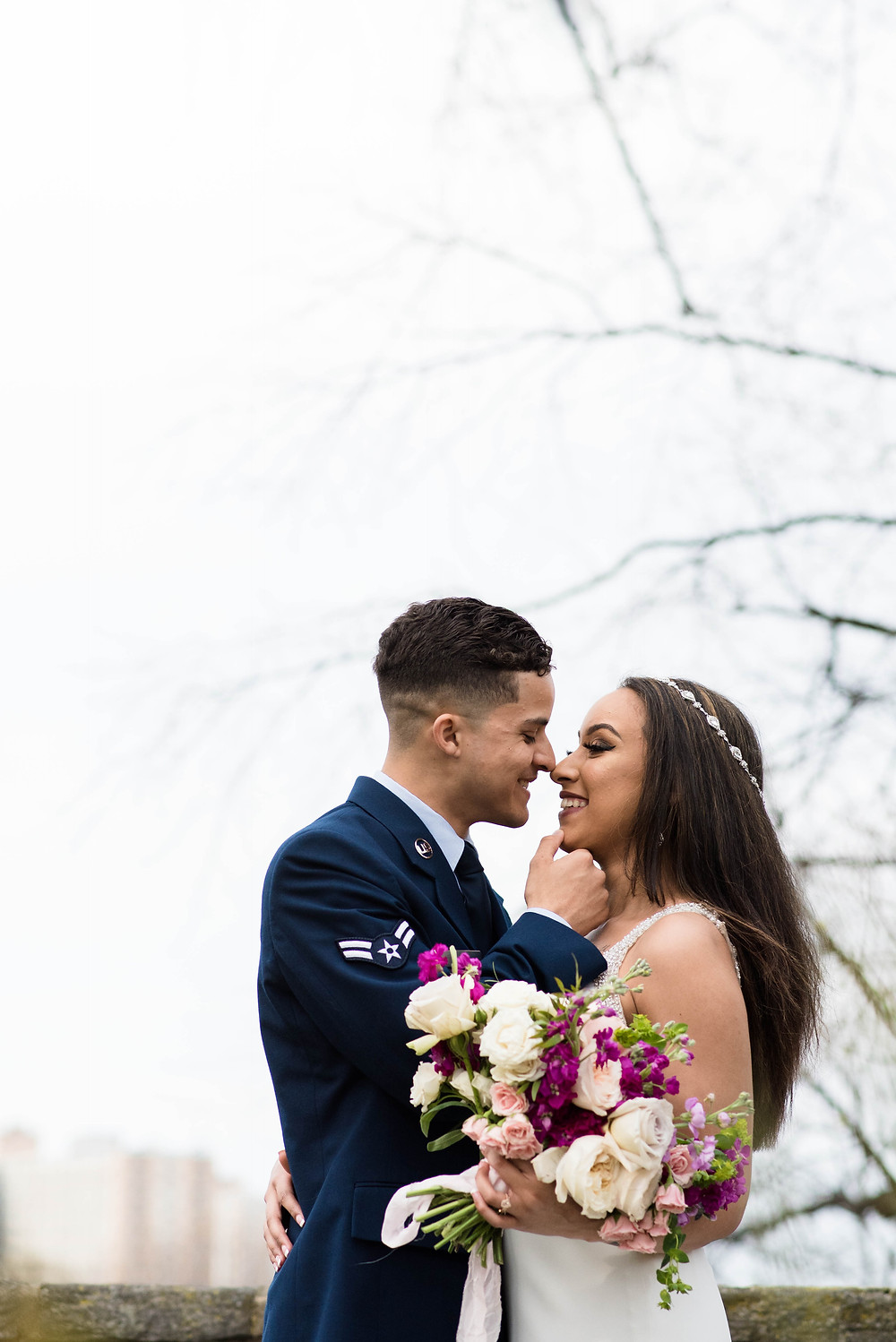 Dover Delaware military couple marries in Cherry Hill New Jersey Shannon Ritter Photography active duty military couple fleur michele bridal bouquets