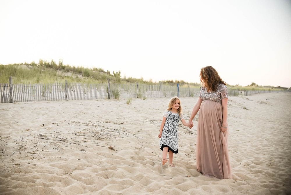 Cape Henlopen Delaware state parks beach maternity session shannon ritter photography