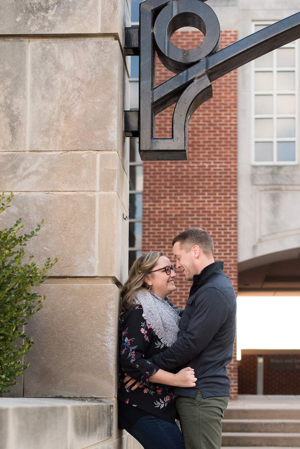 Engagement photos at your college where your love story unfolded and you will feel comfortable and at ease Lebanon Valley College Pennsylvania