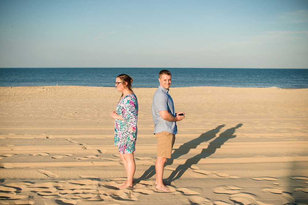 Rehoboth Beach delaware proposal photographer she said yes beach vacation