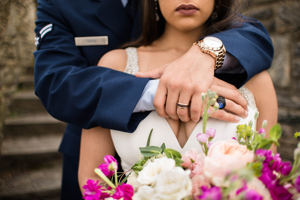 cherry hill wedding portraits dover delaware bride and groom active duty spouses
