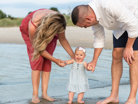 Cape Henlopen Park Photographer  35th Anniversary with Grand Baby