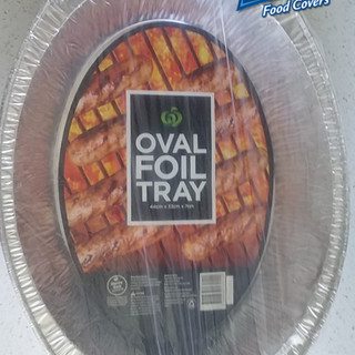 Oval BBQ foil trays