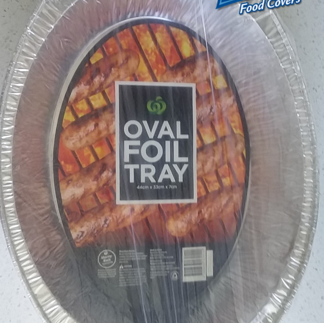 Oval BBQ foil trays