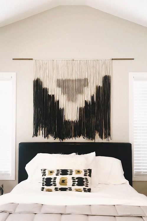 Gray and Black Aztec Tapestry