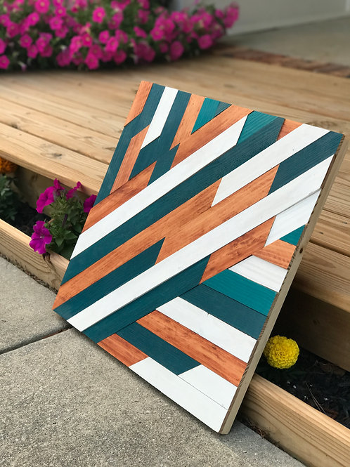Teal Square Wall Art