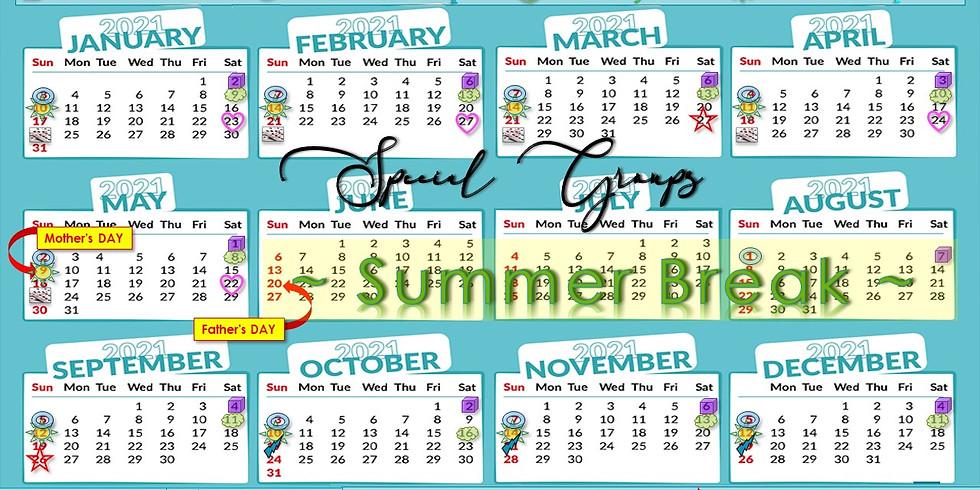 Mark YOUR NEW Calendar 2021
