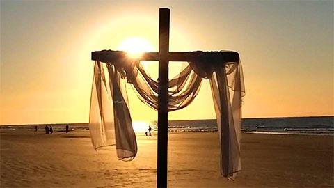 hilton head church of christ beach cross