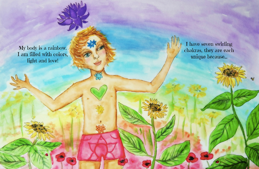 my body is a rainbow a chilrens book about chakras kids yoga