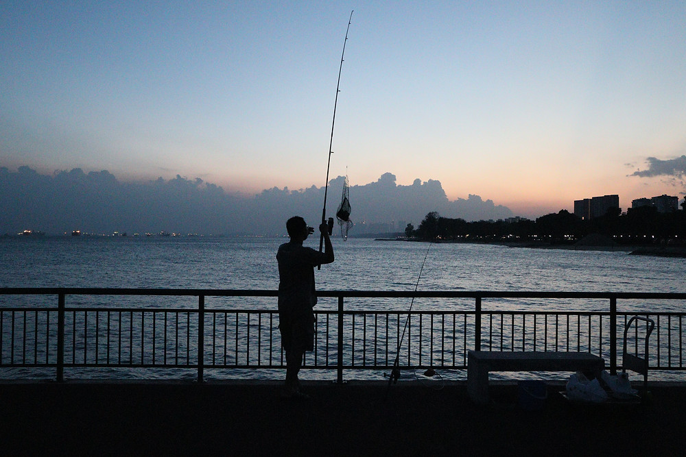 Fishing at Bedok Jetty